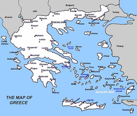 Map of Greece Ferry Routes